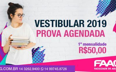 Vestibular Agendado – 2019/2