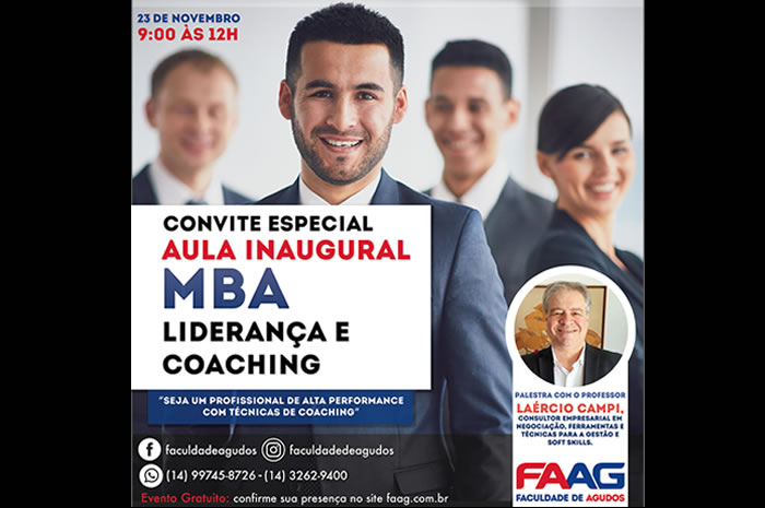 Aula Inaugural MBA Liderança e Coaching