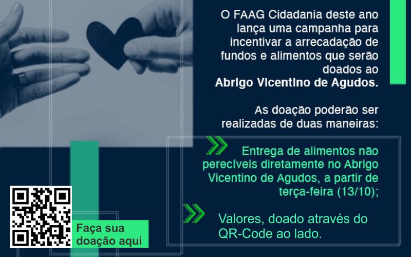 FAAG arrecada doações para o Abrigo Vicentino de Agudos