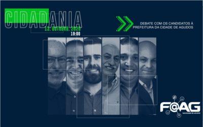 FAAG promove debate entre candidatos a prefeito de Agudos nesta terça, 13 de outubro