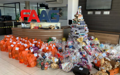 FAAG arrecada cestas e brinquedos para doação de Natal